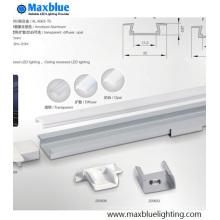 Profilé en aluminium encastré U Boîtier cannelé pour lampe bande de 10-11mm