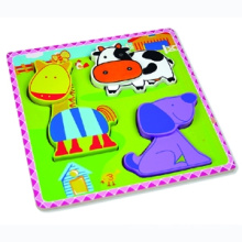 Wooden Puzzle for Baby with Farm Animals (80631-3)