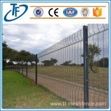 Black coated high security fencing