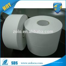 Papel de material de etiqueta de casca de ovo destructivo em branco e desbastado em branco personalizado para impressora de zebra