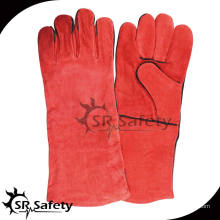 SRSAFETY Longer Red Cow Split Leather Рабочие перчатки