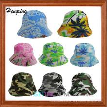 Chapeau de seau de modèle de Hawaï de coton de mode Chapeau de seau d'Hawaï