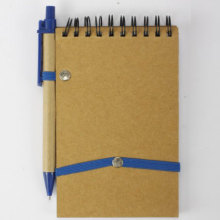 Blue cover eco-friendly spiral notebook