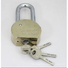 Cadeado de aço redondo com chaves de palhetas