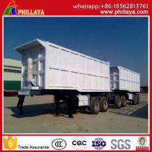 Caminhão basculante de 2 eixos dianteiro / traseiro semi-reboque