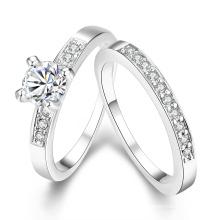Европа горячая Распродажа популярные круглый циркон кольцо два Комбинаторных кольцо для женщин