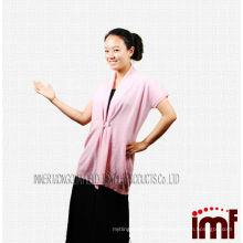 New 2015 a Pink Mongolian Cashmere Handmade Adult Knitting Vest with Shell Button