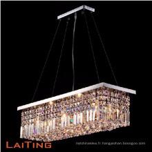 Remise carré en cristal pendentif lumière cuisine lustre moderne 71002