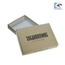 Manufacturer Plain printing Kraft paper drawer box custom for cosmetic