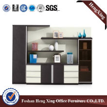 Aluminum Glass Doors Office Bookcase Modern Melamine Office Furniture (HX-6M085)