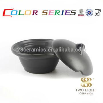 Ustensile de style ultime ustensile ustensile en corne en céramique noire avec couvercle