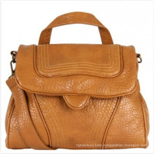 Metro Stitching Flat Fashion Ladies PU Shoulder Handbag (ZX20088)