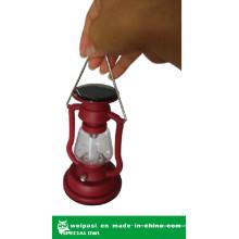 Lanterna metálica LED com Solar para exterior