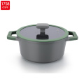 Eco friendly granite coated induction bottom grill pan