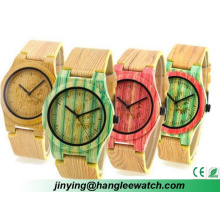 OEM na Última Moda Cor Bambu Relógios Strap Assista Mesa De Madeira