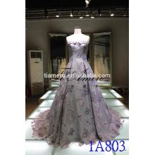 China alibaba taaffeta de vestido de novia de hombro 2016 Romántico de ropa de las mujeres de hombro bordado vestido de noche