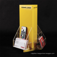 Revolving 3 Sided Custom Design Leaflet Holder Acrylic Brochure Display Stands