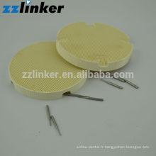 Bac à feu dentaire en forme de nid d'abeille (outils ronds en céramique Outils dentaires)