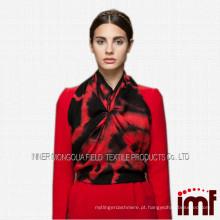 2014 lenço preto e vermelho longo bonito das senhoras de Selling