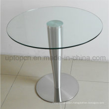 Wholesale Round Stainless Steel Base Cafe Restaurant Dining Table (SP-GT110)