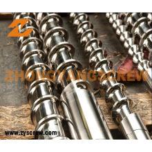 Parafuso de nitruração e tambor para PVC / PP / PS tambor de parafuso de extrusora