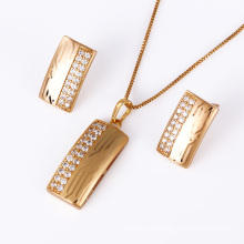 Xuping moda 18k ouro jóias conjunto de jóias de laser (61186)