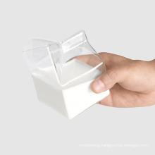350ml Crystal Breakfast Container Box Children′s Milk Cartons Novelty Glass Milk Cups