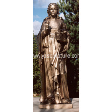 Garden Life Size Bronze Lady Statue