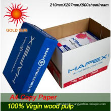100% Wood Pulp White A4 Copy Paper (CP007) for Printing