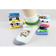 Factory Supplier Customize Cheaper Polyester Cotton Cute Cartoon Ankle Boat Socks