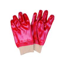 Interlock Liner Handschuh mit PVC Vollständig getaucht, Knit Handgelenk, Industria Handschuh