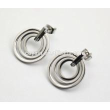 Brincos de moda círculo redondo prata brincos para mulheres