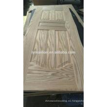 Talla de madera dormitorio muebles chapa puerta piel