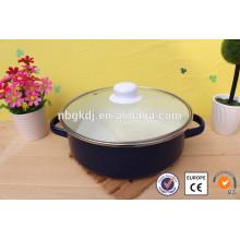 ollas de mariscos de cámara de cocción de arcilla de esmalte colorido
