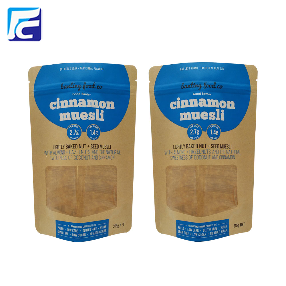 Kraft Paper Bag With Clear Window