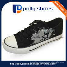 Rubber Printed Canvas Women′s Shoes Casual Footwear
