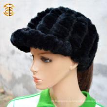 Оптовая цена мода трикотажные кролика шапочка шапочка для женщин