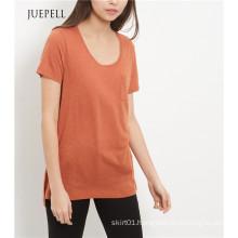 Light Brown Single Pocket Women T Shirt