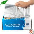 Pop-up Aluminum Foil Sheet for Food Use