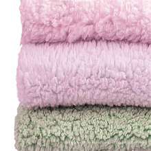 Окрашенная шерпа флис бархатная ткань