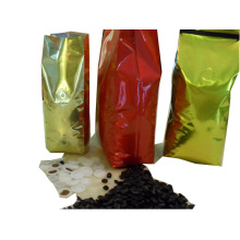 Coffee Bag: Side Gusset Coffee Bag with Gas Valve and Tin Tie