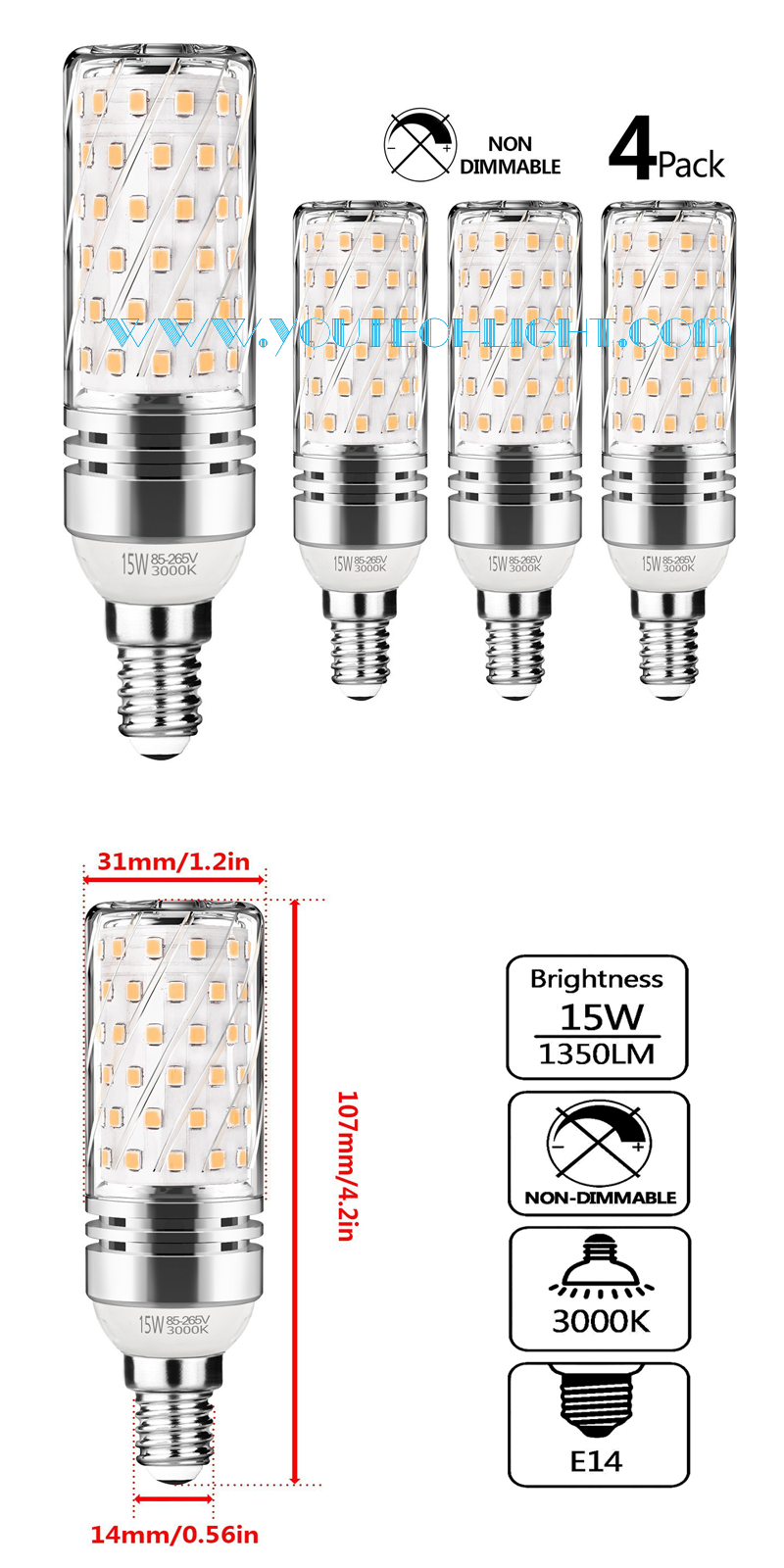 E14 led corn light