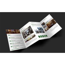 Folheto dobrado Impressão de offset Impressão de folheto de catálogo personalizado