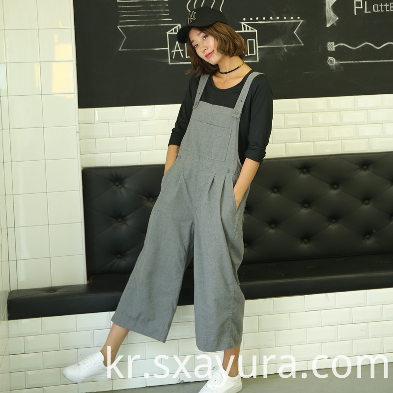 casual temperament loose high waist overalls