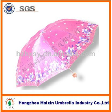 Parapluie pliant de parapluie de Sun de parapluie de Sun de conception de diverse impression 3