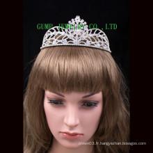 Design de mode Crystal Tiara Shiny Rhinestone Crown