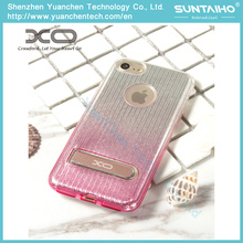 Brilhante TPU brilhante filme tampa traseira caso de telefone com suporte para iPhone 7 iPhone 7plus