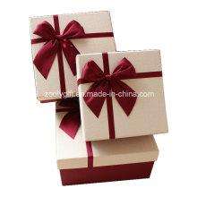 Качество текстурированной бумаги искусства Подарочная коробка с лентой лук / всплывающих ручной подарочной упаковке бумаги Подарочная упаковка на День святого Валентина