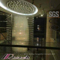 Classical Style Specially Hotel Decorative Large Spiral K9 Crystal Chandelier