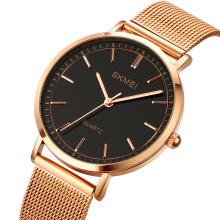 SKMEI 1664 Men Hand Watches Classic Stainless Steel Mesh Quartz Wrist Watch